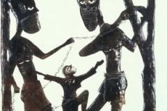 Christ as Zonbi Metalwork Sculpture