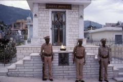 Soldiers Guard Duvalier's Tomb