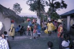 The Rara walks to ritually salute the lakou (compound).