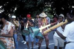 A Rara band plays in New York City